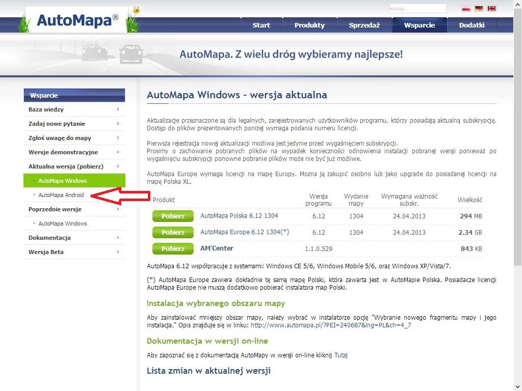 Automapa Instalacja Mapa Polski I Europy Nawigacjeandroid Pl